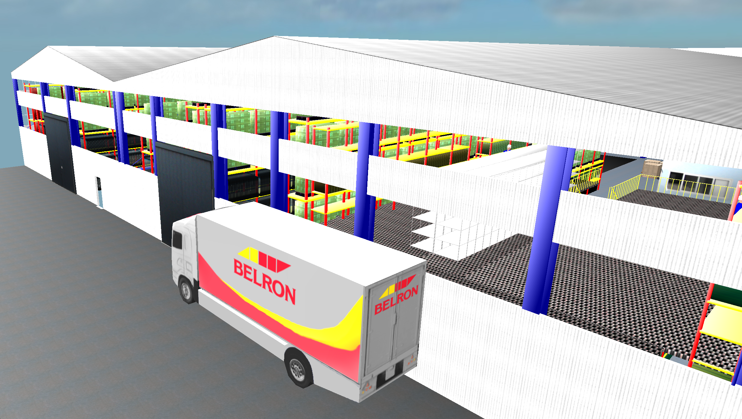 Belron Loading Area, Graphic by CLASS